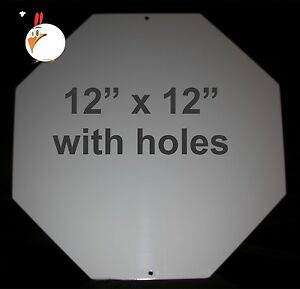 10 Pieces Stop Sign Aluminum Sublimation Blanks 12 x 12 With Holes Dye Sub