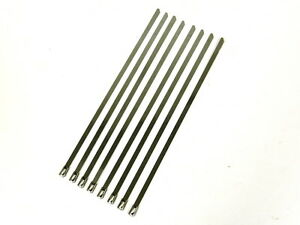 12 Universal Stainless Steel Cables Zip Ties X8