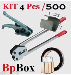Tensioner And Cutter 1 2 To 5 8 Strapping Poly Crimper 500 Seal Kit4 Pcs