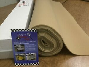 Lt Tan Auto Headliner Upholstery Fabric Kit 60 X 60 Foam Backing 3 16 material