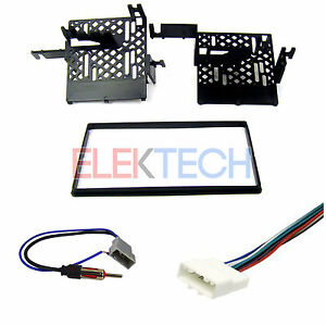 Radio Replacement Dash Mount Installation Kit 2 Din W Harness Antenna For Nissan