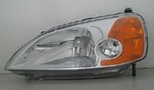 For 2001 2003 Honda Civic 2 door Coupe Driver Side Headlight Head Light Lamp