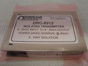 Omega Drc8913 4 To 20 Ma Input Range 0 To 10 V Output Range Signal Conditioner