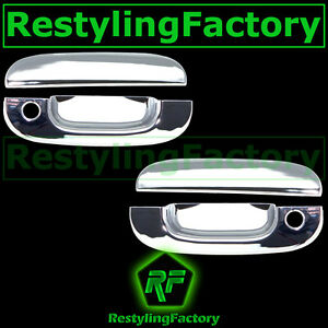 Chrome Plated 2 Door Handle W Passenger Keyhole Cover For 94 01 Dodge Ram