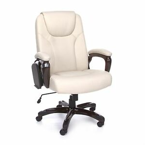 High Back Multi Task Cream Color Executive Office Desk Chair Conference Chair