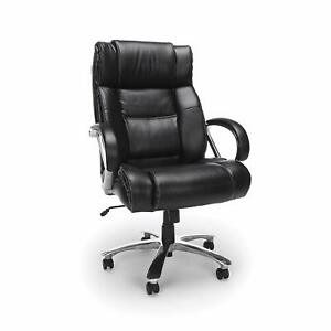 Big Tall 500 Lbs Capacity Black Leather High Back Executive Office Chair