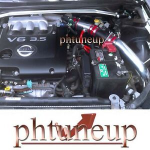 Fit 2002 2006 Nissan Altima 3 5 3 5l Se Se R Sl Cold Air Intake Kit Systems Red