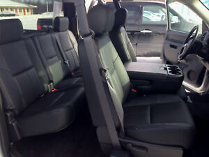 Katzkin Black Leather Interior Seat Covers Fit 2010 2013 Gmc Sierra Extended Cab