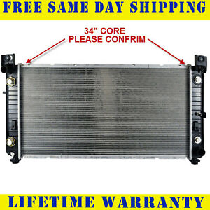 Radiator For 1999 2009 2011 2014 Chevy P u 1500 2500 Hd V6 V8 34 Core