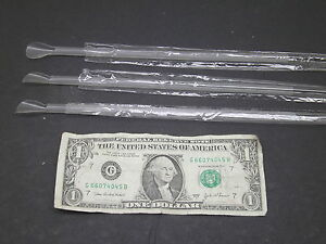 New 500 Individually Wrapped Spoon Straws Clear 9 Scoop Snow Cone Free Shipping