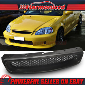 Fits 1999 2000 Honda Civic Ek Cx Dx Ex Type R Jdm Front Hood Grill Grille Abs