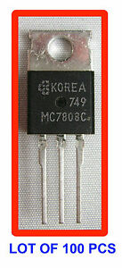 Voltage Regulator Mc7808c Lot Of 100 Pcs