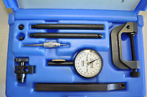 Central Tools 6402 Dial Indicator Set 5 00mm Range W run Out Adapter Made In Usa