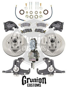 Mcgaughys 1963 66 Chevy C10 Stock Spindles W 6 Lug Power Disc Brake Conversion