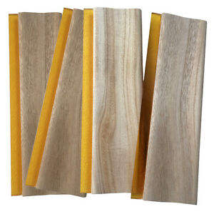 4 Pcs 13 Screen Printing Squeegee Wooden Scraper Rubber Ink Knife 33cm Oiliness
