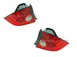 For 2004 2005 Honda Civic Coupe Non Si Tail Light Taillights Lamp Pair Lh Rh