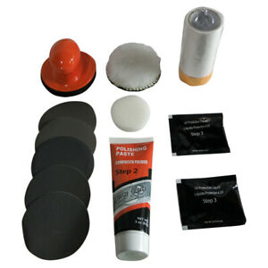 Glassylite Headlight Lens Restoration Kit Restore To New Polish Head Glassy Lite