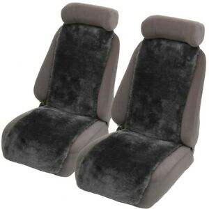 Grey Sheepskin lambswool Seat Cover Insert 20mm Thick Pair