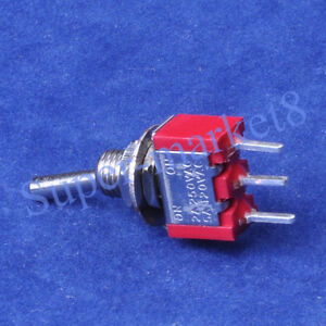 100pcs Red Mini Toggle Switch Spdt On on Guitar Amp 3pin Pcb Audio Hifi Tube Amp