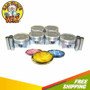 Pistons And Rings Fits 87 95 Jeep Cherokee Grand Cherokee Wrangler 4 0l Ohv