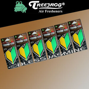 6 Pack Wakaba Japan Treefrog Young Leaf New Car Scent Jdm Air Freshener