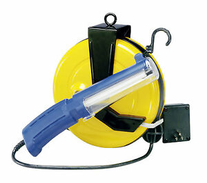 Nec 511 Professional Fluorescent Retractable Cord Reel Work Light 5000 40pl Ss