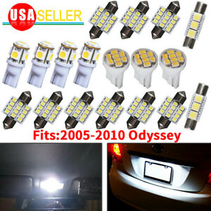 18x Pure White Interior Led Dome Map Lights Package Kit For 05 10 Honda Odyssey