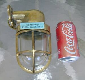 Vintage Cast Brass Wall Mounted Nautical Light Polished Rewired Check Us Out