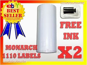 2 Sleeves White Label For Monarch 1110 Pricing Gun 2 Sleeves 32rolls