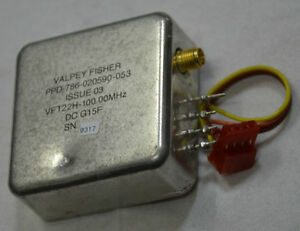 100 mhz Ocxo Vft22h 100 00mhz Valpey Fisher Ppd 786 0205960 053 Issue 03 Vdc 12v