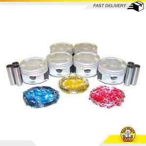 Pistons And Rings Fits 93 02 Ford Probe Mazda Millenia 626 2 5l V6 Dohc 24v Kl