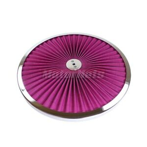 14 Round Red Flow Thru Washable Air Cleaner Lid Top Only 350 454 302 347 460