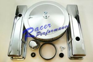 Chrome Small Block Chevy Engine Dress Up Kit Air Cleaner Valve Cover Sbc 350