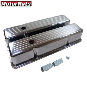 Polished Cast Aluminum Valve Cover Ball mill Tall Small Block Chevy Sbc 350 327