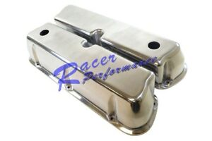 Sbf Ford 302 351w Polished Aluminum Tall Valve Covers Small Block 289 5 0l Rod