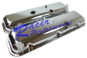 Chevy Big Block 396 427 454 Short Oem Chrome Baffled Steel Valve Covers Bbc