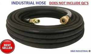 Pressure Washer Hose 50 W o Couplers 4000 Psi 50 Ft Wire Braid Free Ship