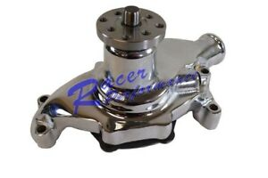 High Flow Polished Aluminum Short Water Pump Swp Chevy Sb 283 350 Sbc Street Rod