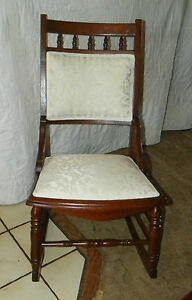 Walnut Eastlake Sewing Rocker Rocking Chair R164