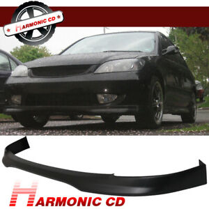 Fits 01 03 Honda Civic Sedan Coupe T R Pp Front Bumper Lip