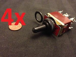 4x Waterproof Dpdt Momentary off momentary On off on Toggle Switches 15a 1 2