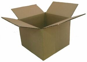 25 13x13x4 Corrugated Boxes Shipping Packing Moving Cardboard Cartons