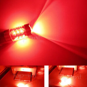2 X 80w Red 3157 3156 T25 Led Auto Car Turn Lights Bulb Backup Brake Tail Lamps