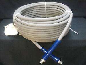 150 Ft 3 8 Gray Non marking 4000 Psi Pressure Washer Hose 150 Free Shipping
