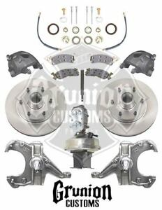 Mcgaughys Chevy C10 1960 62 Drop Spindles 6 Lug Power Disc Brake Conv 9 Boost