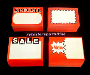 Lot Of 200 1 Preferred Jewelry Store pawn Vape Shop Sale Price Tag Signs