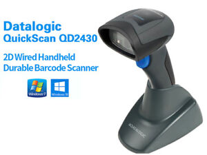 Datalogic Adc Quickscan Qd2430 2d Area Imager Usb Kit Cable And Stand New