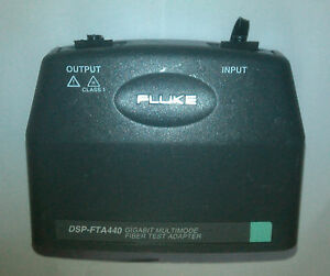 Fluke Dsp fta440 Mm Fiber Gigabit Test Adapter For Fluke Dsp 4000 4300