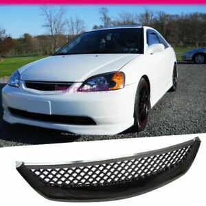 Fit For 2001 2003 Honda Civic Coupe Sedan Type R Abs Front Mesh Hood Grill