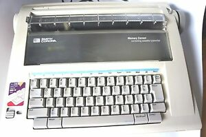 Smith Corona Na1hh Memory Correct Correcting Cassette Typewriter With Manual